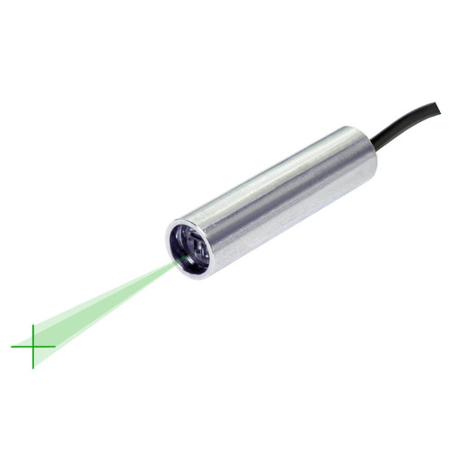 Quarton VLM-520-58 LPO-D10 & VLM-520-58 LPT-D10 Green Crosshair Laser Module Fan Angle 10° Uniform Line, Wavelength: 520nm