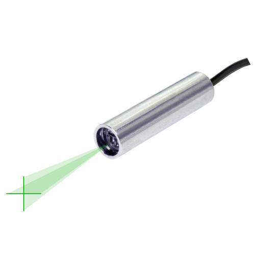 Quarton VLM-520-58 LPO-D15 & VLM-520-58 LPT-D15 Green Crosshair Laser Module Fan Angle 15° Uniform Line, Wavelength: 520nm
