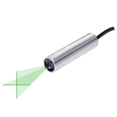 Quarton VLM-520-58 LPO-D30 & VLM-520-58 LPT-D30 Green Crosshair Laser Module Fan Angle 30° Uniform Line, Wavelength: 520nm