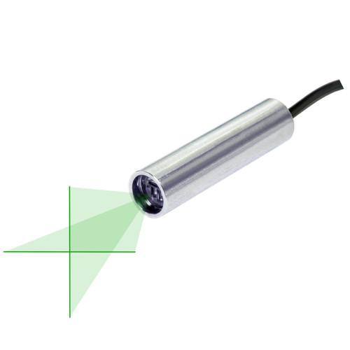 Quarton VLM-520-58 LPO-D60 & VLM-520-58 LPT-D60 Green Crosshair Laser Module Fan Angle 60° Uniform Line, Wavelength: 520nm