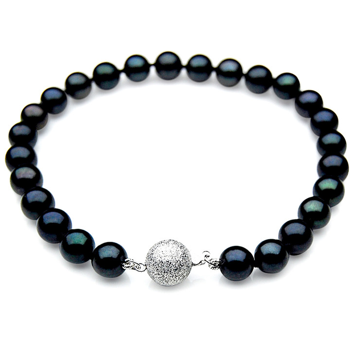 AB013 (AAA 7-7.5mm Japanese Akoya Saltwater Pearl Bracelet gold clasp)