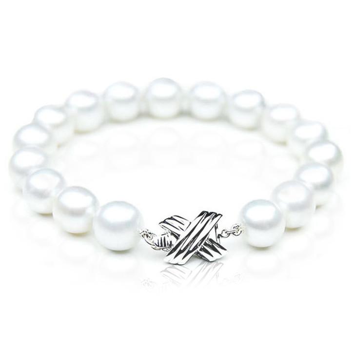 SB011 (AAA 10-12 mm Australian South Sea Pearl Bracelet White Gold clasp )