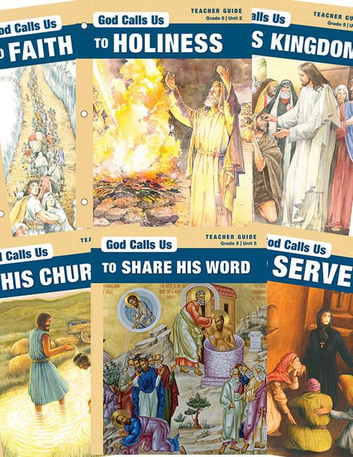 5th Grade: God Calls Us Series (Volumes 1-6) Teacher Guides