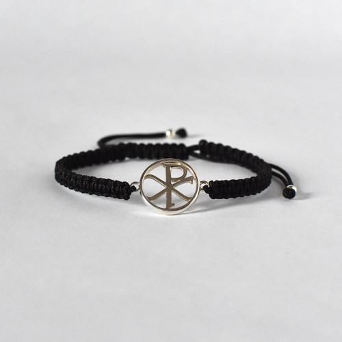 Chi Rho Sterling Silver Bracelet