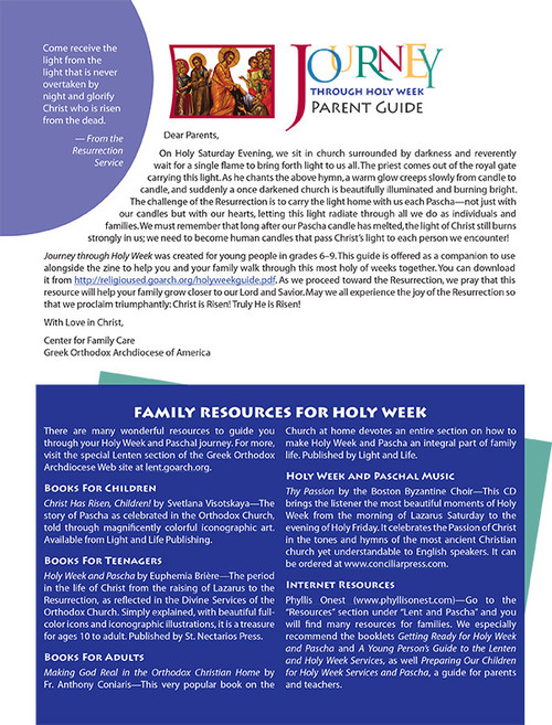 Journey through Holy Week Parent Guide (PDF)