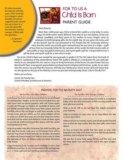 For Unto US A Child is Born: Christmas Zine Parent Guide (PDF)