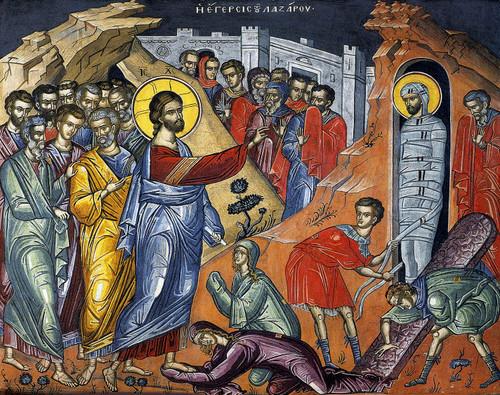 Resurrection of Lazarus Icon