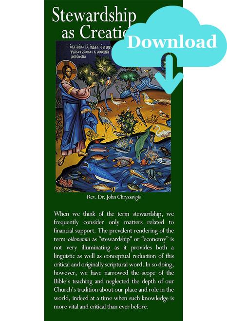 Stewardship as Creation Care Pamphlet - Digital Download