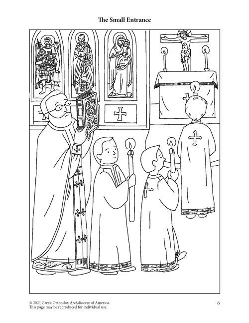 Divine Liturgy Illustrated Coloring Pages Digital Download