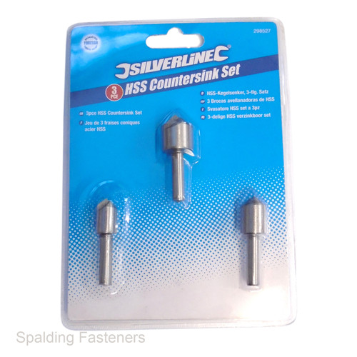 Silverline HSS Metric Countersinks (Individual or Set)