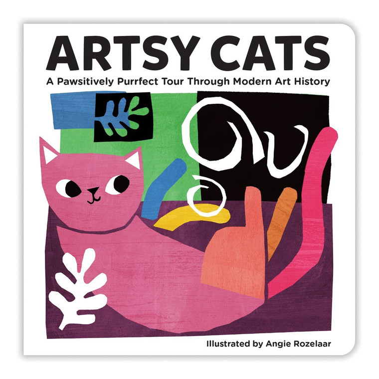 Illustrated title cover with a pink and orange cat.