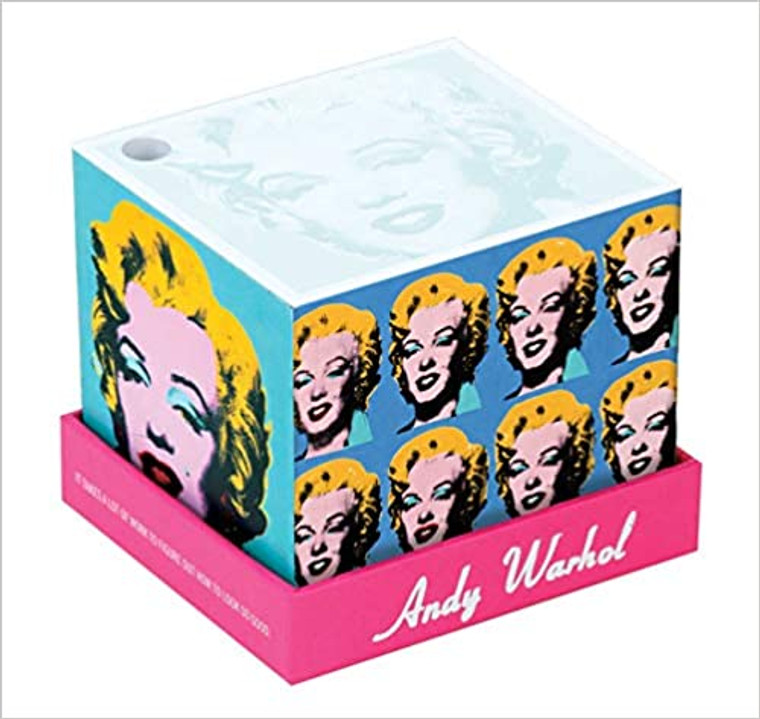 A memo cube with Marilyn Monroe artworks on each side