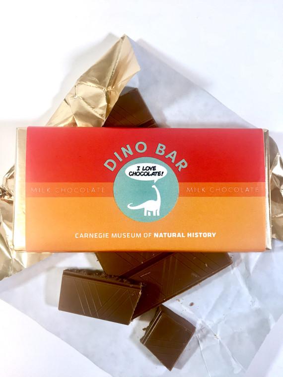 "Milk chocolate bar 3.5 oz. with CMNH logo ""I love chocolate!"""