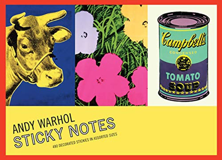 image of the booklet cover with three color images of a cow on blue, flowers and cambell's soup can