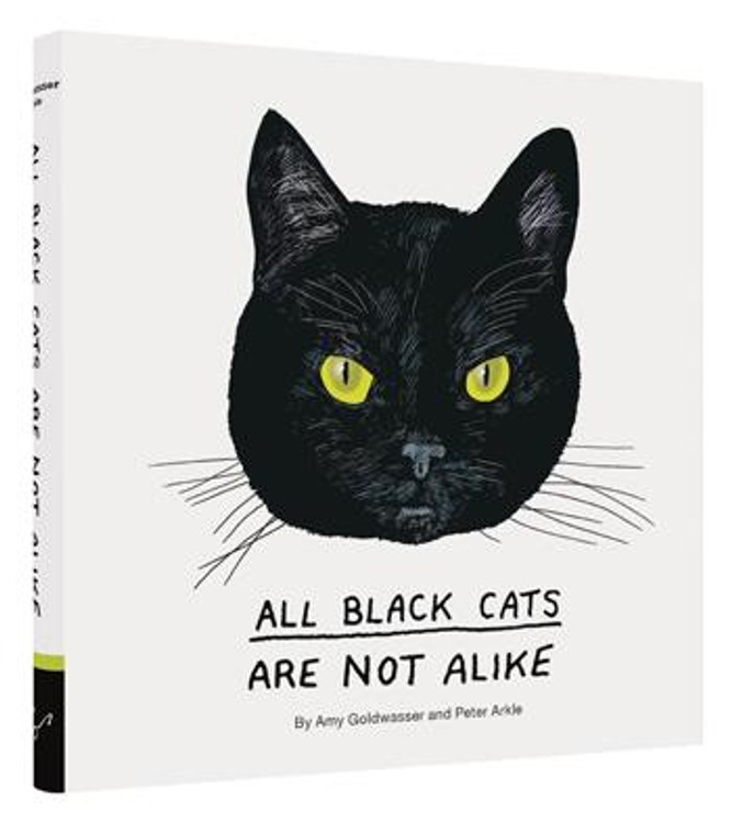 image of an illustraed black cat's head with yellow eyes on a white background.