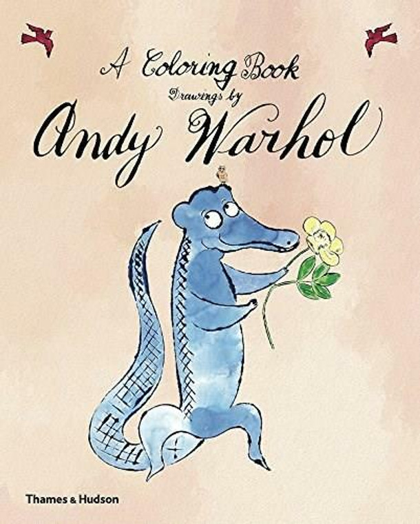 image of book cover with an illustrated blue crocodile holding a yellow flower. Title of the book is in a black script like font placed above the illustration.