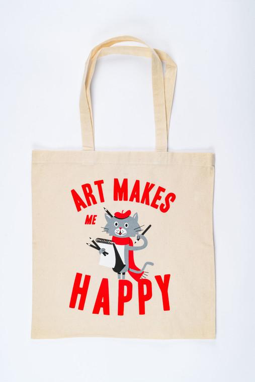 Art Makes Me Happy Tote