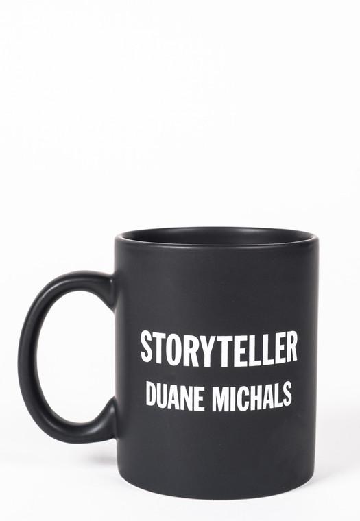 Matte Black Duane Michals Storyteller mug