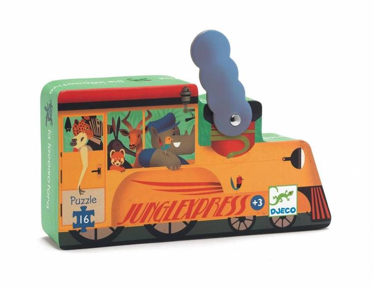 16-Piece Train Puzzle