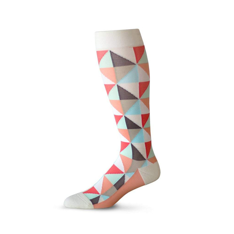 Coral Story Compression Sock