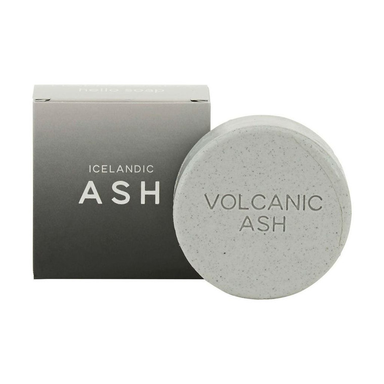 The box with a round bar of volcanic Ash Soap