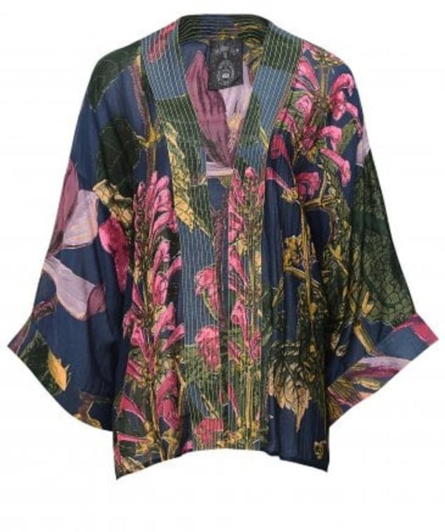 Gray Magnolia Kimono Short