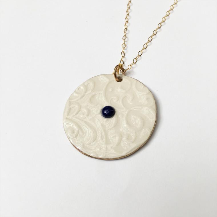 Porcelain Pendant Necklace