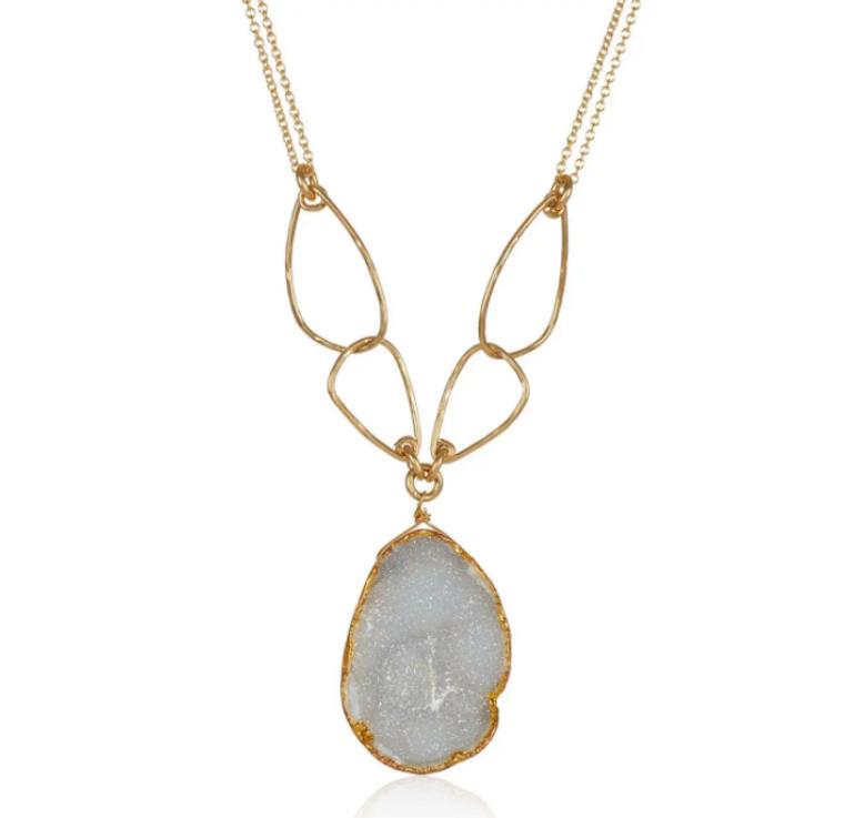 Golden Link Druzy Necklace