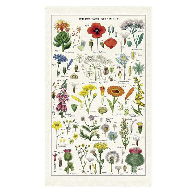 This beautiful wildflower print tea towel