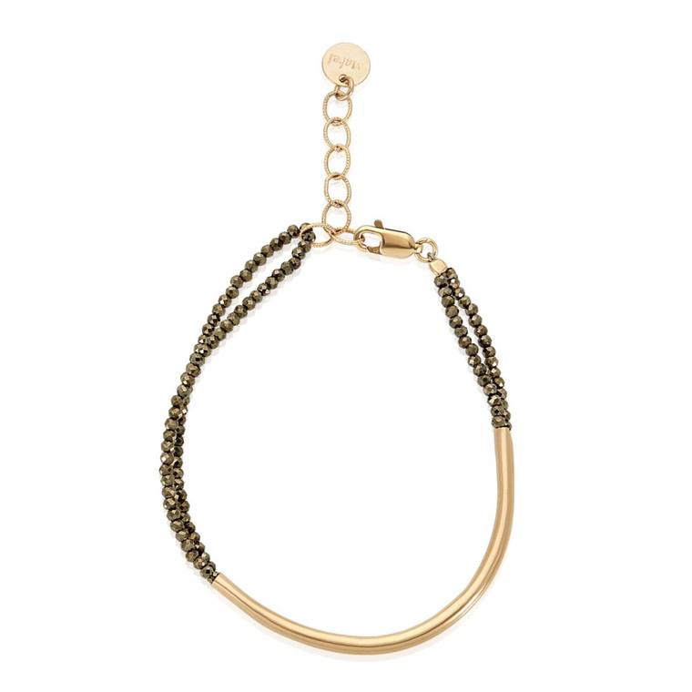 Tubular Pyrite Bracelet