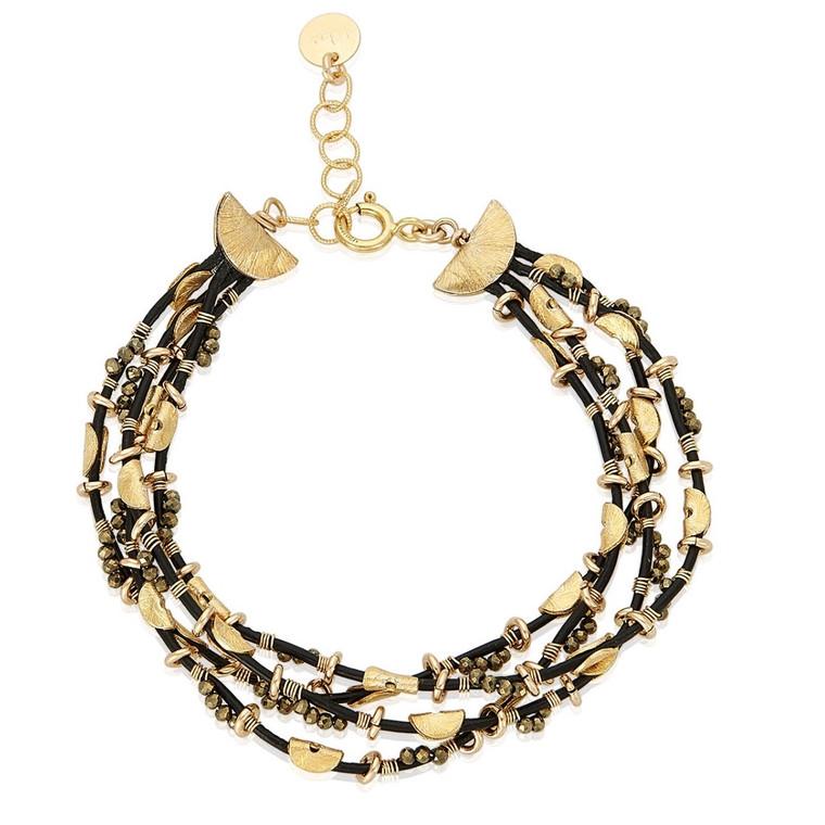 Four Strand Pyrite Bracelet