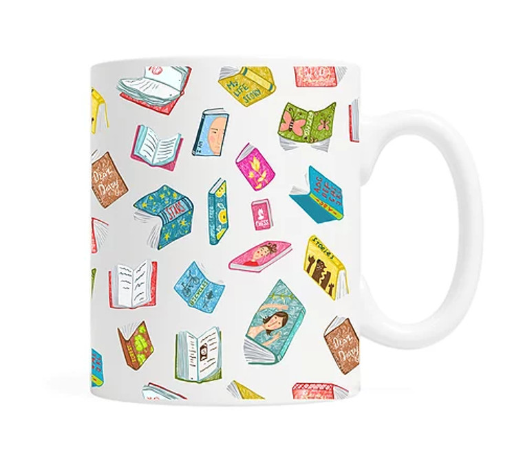 Floating Books Mug