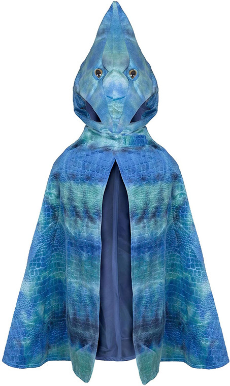Pterodactyl Hooded Cape, Blue, US Size 4-5