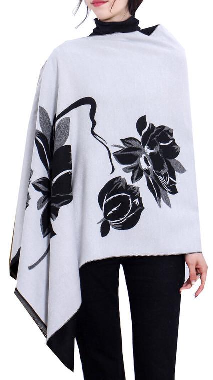 Black/White Reversible Topper - Lotus Collection