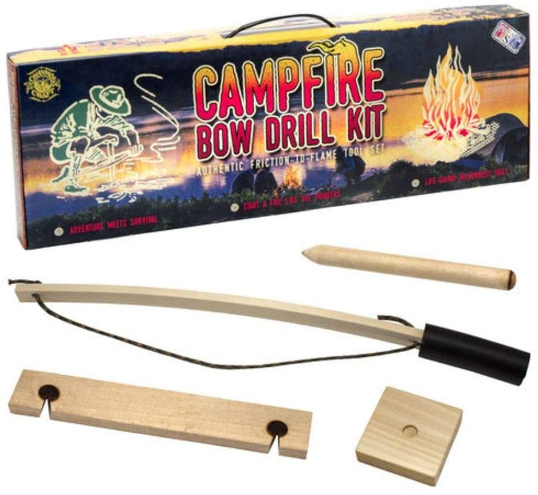 MADE IN USA - Like Channel Craft's other products, this Campfire Bow Drill Kit was proudly crafted in the U.S.A