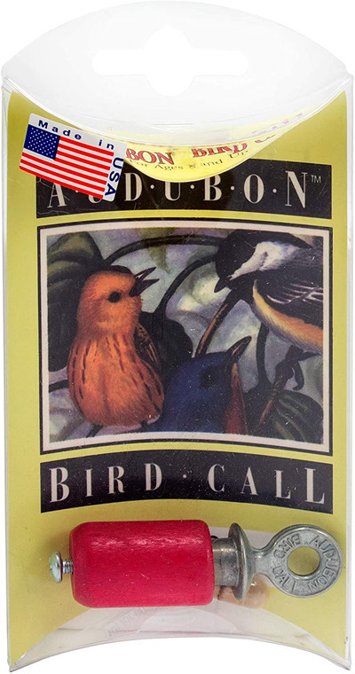 The original pocket bird call! Realistic songbird songs can be produced by twisting the metal piece Includes: Audobon Bird Call and 1 Rosin Capsule