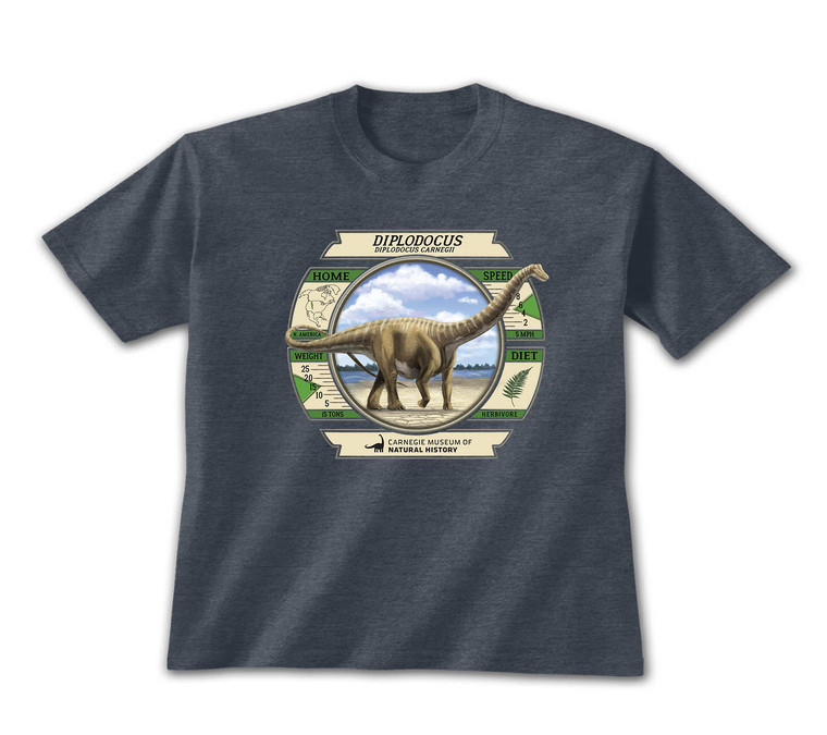 The navy heathered Dippy dashboard tee is soft, comfortable and provides a relaxing fit