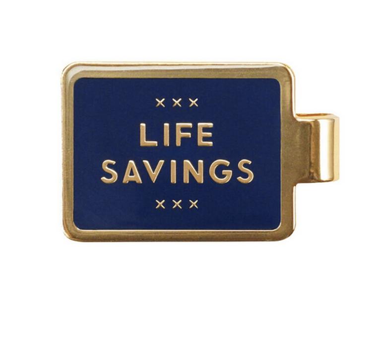 """Life Savings"" Enameled Money Clip"