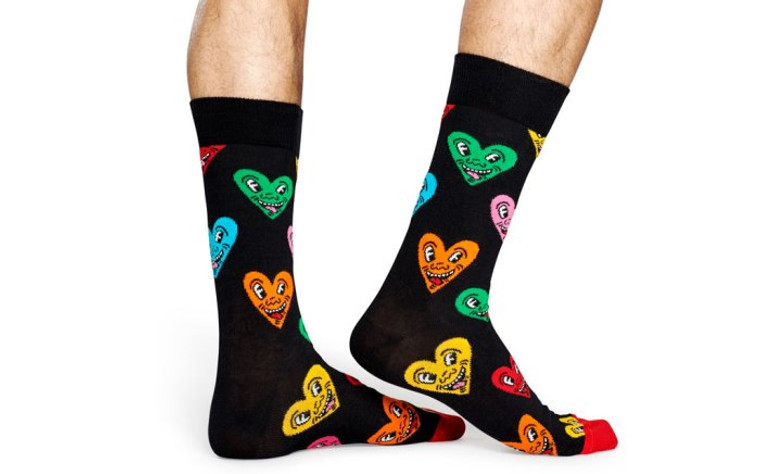 Keith Haring Heart Socks in Men's and Women's