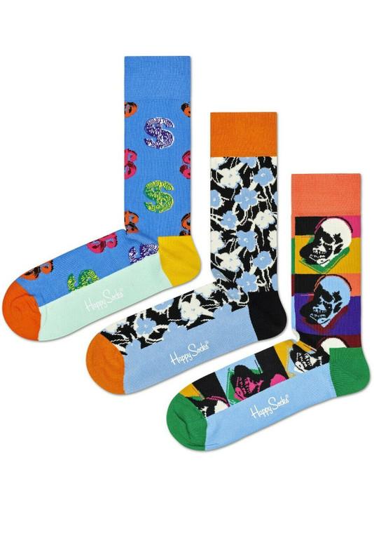 Andy Warhol Skull Socks Set of 3