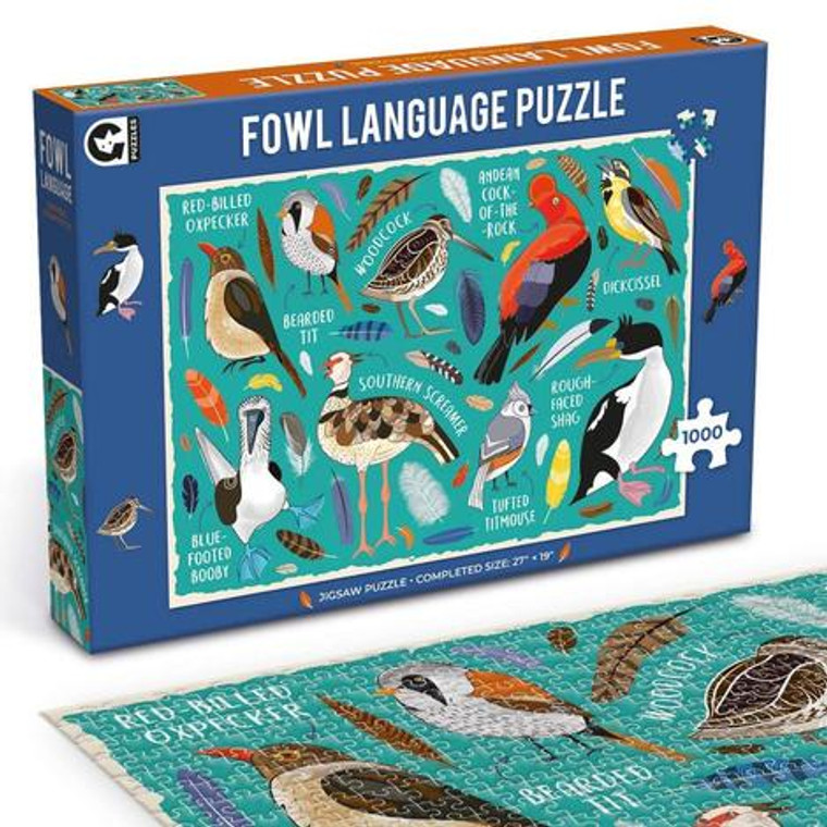 Complete this 1000-piece puzzle featuring 9 cheeky bird names that will really get you tittering! From a dickcissel to a bearded tit, this collection of seemingly innocent birds all have rather foul names.