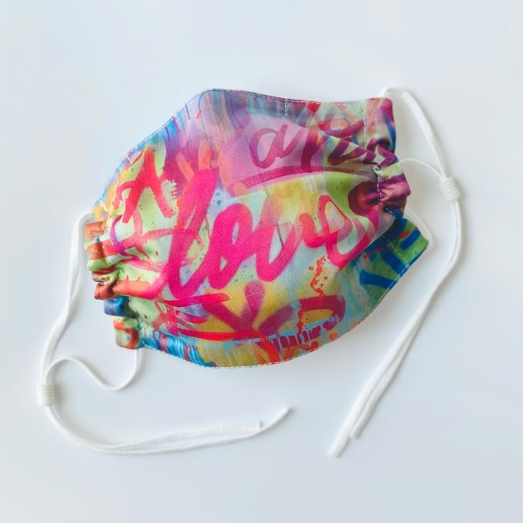 Graffiti Love Face Mask