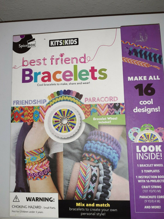 Make 16 projects, braid, knot & weave. Mix and match bracelets to create your own personal style!