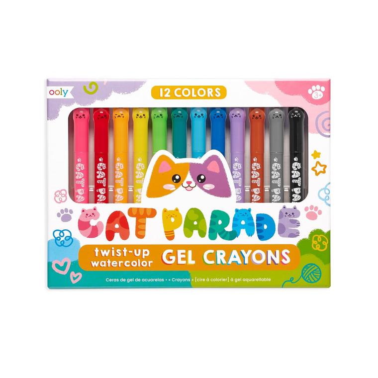 Cat Parade Gel Crayons - Set of 12