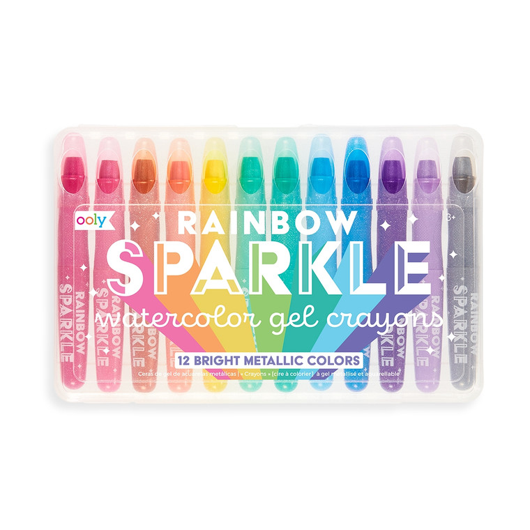 Rainbow Sparkle Metallic Gel Crayons