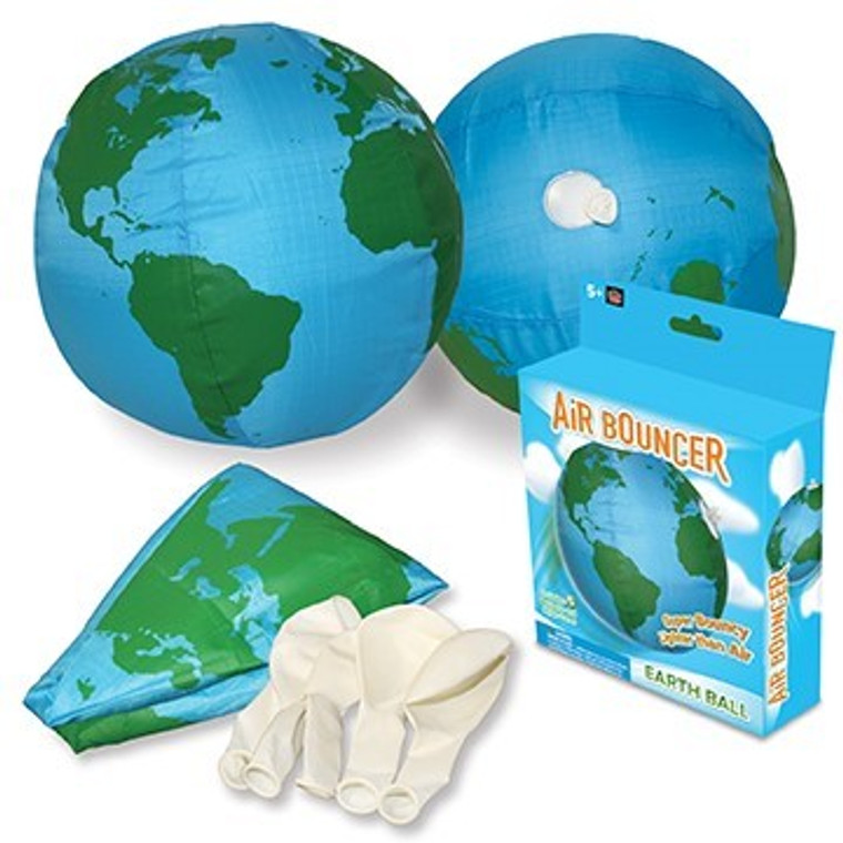 This product has a light blue box with the image of a blue and green globe.