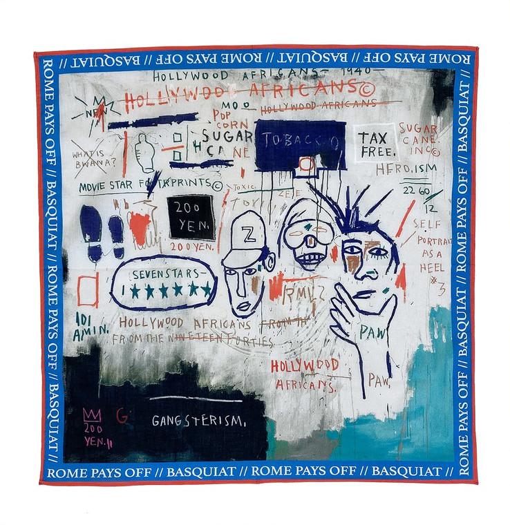 Basquiat Hollywood Africans Bandana