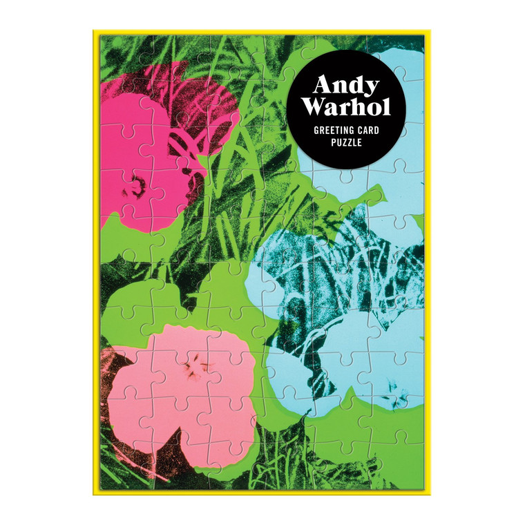 image of puzzle card imprinted with colorful flowers.