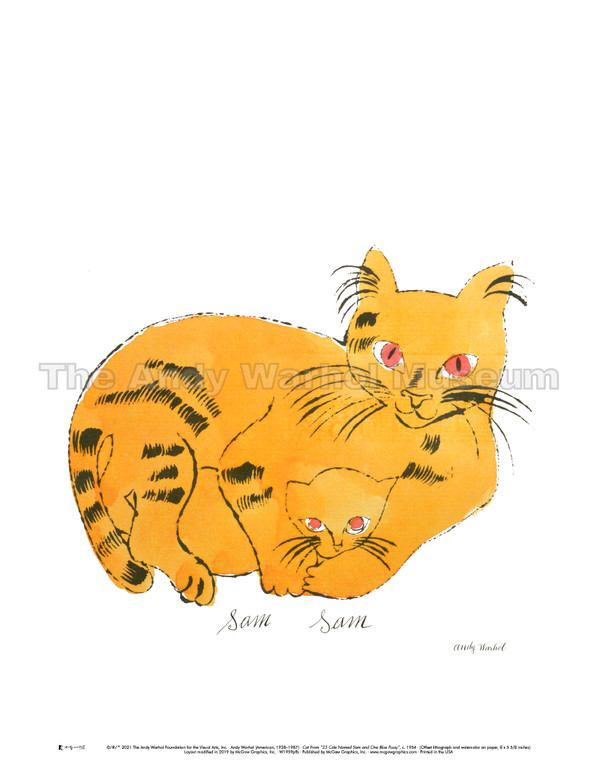image of an illustrated yellow cat.