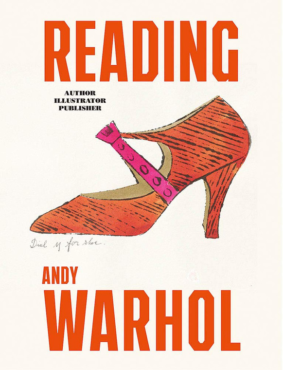 image of a book cover with an illustration of a shoe and text in red.